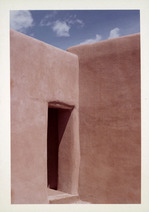 Photograph of Georgia O'Keeffe's Abiquiu house, New Mexico. © Georgia O'Keeffe Museum.